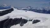 Mont Blanc und Grand Combin zeigen sich