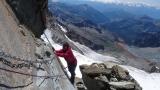 Blick hinunter auf den Zustieg durchs Val de Veraz zur Rifugio Mezzalama und das Val d' Ayas