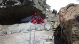 Und nach einem Kamin die Ausstiegswand