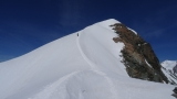 Blick zurück zum Finrgrat mit dem Gipfel des Pollux