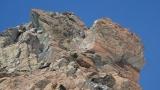 Blick zurück zur Schlüsselstelle - dem Ausstieg aus den Felsen