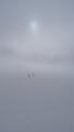 Zwischendurch dicker Nebel - keine guten Aussichten für unsere Überschreitung